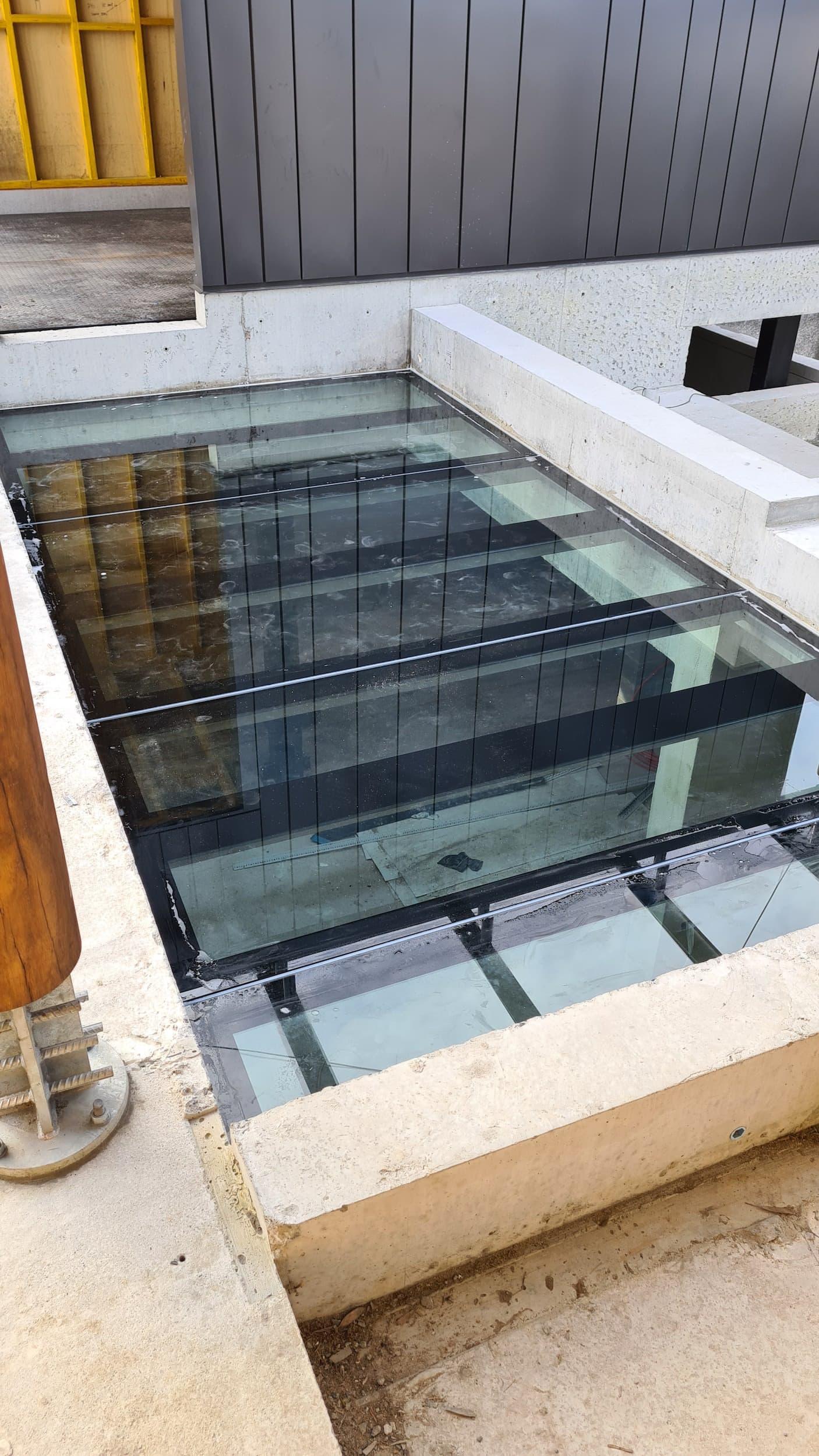 Glass Bottom Pond - Newport Glass Fence Supplies
